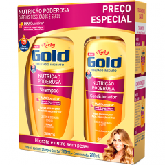 Kit Niely Gold Sh. 300ml + Cond. 200ml Nutricao Poderosa